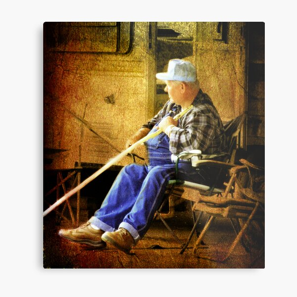 The Whittler Metal Print