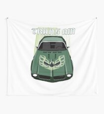 Firebird Trans am 73 -  Green and Black Wall Tapestry