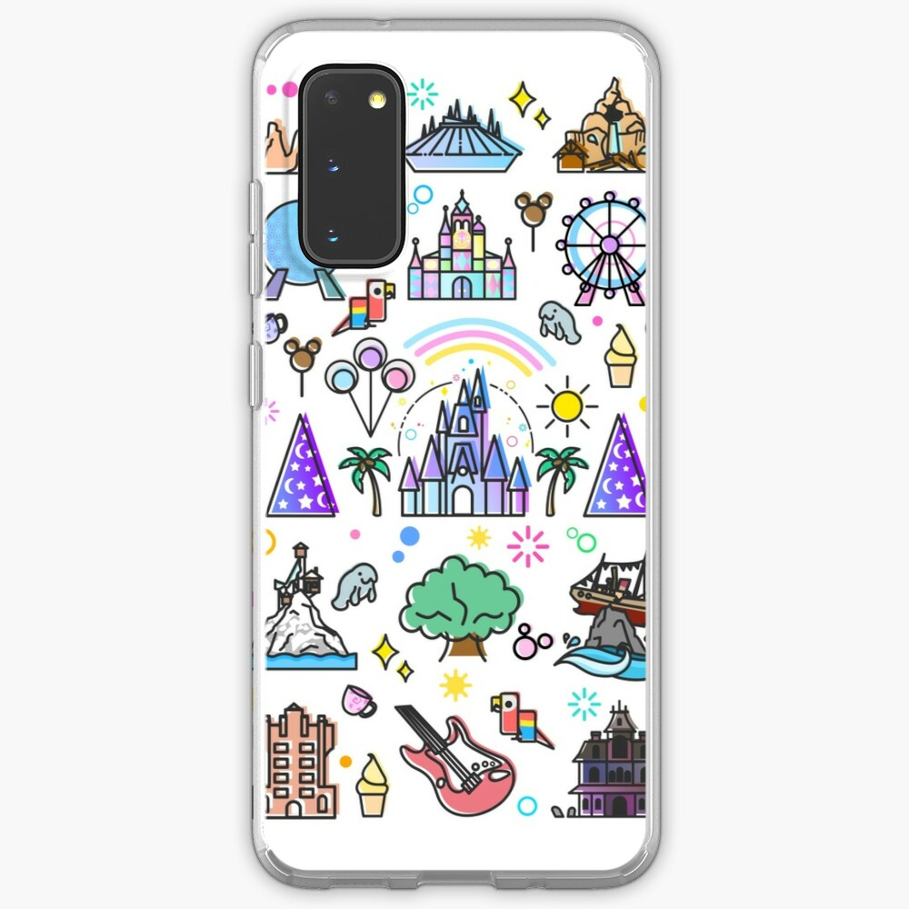 Happiest Place on Earth Collection. It's a Small World, Haunted Mansion, Princess Castle, Manatee, Ferris Wheel Theme Park. Case & Skin for Samsung Galaxy