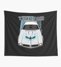 Firebird Trans am 73 -White and Blue Wall Tapestry