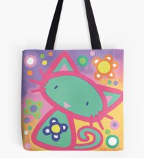 Minty Kitty Tote Bag