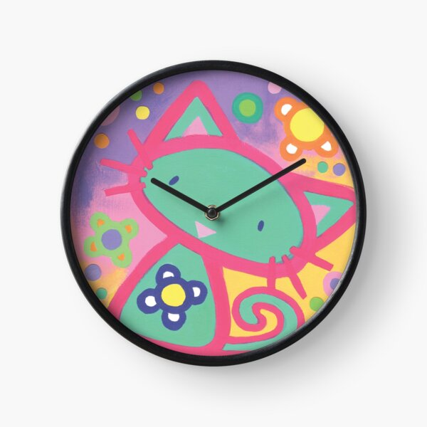 Minty Kitty Clock