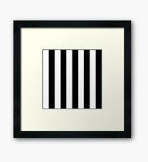 Vertikale dicke schwarze Streifen Gerahmtes Wandbild