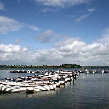 Rutland Water, Boat Reflections by JohnDalkin