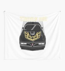 Firebird Trans am 77-78 - Black and Gold Wall Tapestry