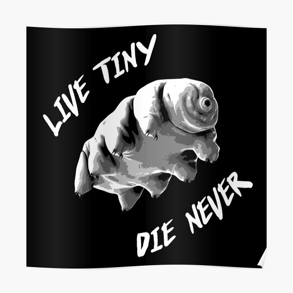 Tardigrade 'Live Tiny, Die Never' Poster