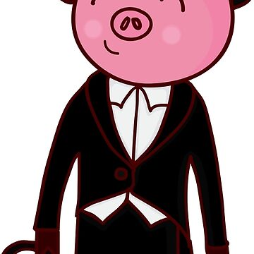 Gentleman pig by Marishkayu