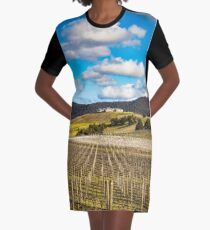 Winery in winter Graphic T-Shirt Dress