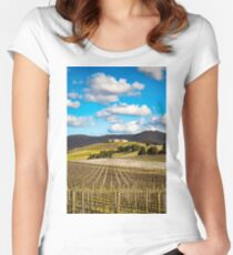 Winery in winter Fitted Scoop T-Shirt