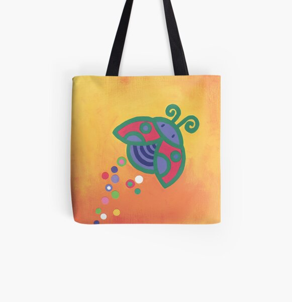 Flying Ladybird All Over Print Tote Bag