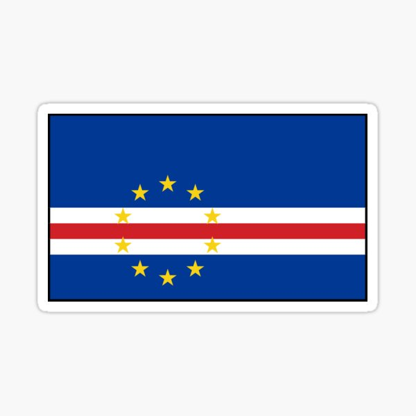 White Graphics /& More c-Cape Verde National Country Flag