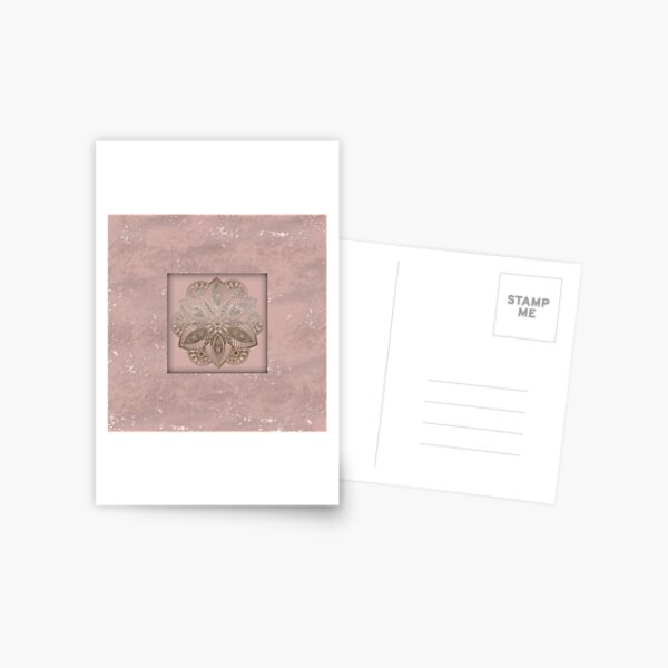 Mandala rosegold 2 Postcard