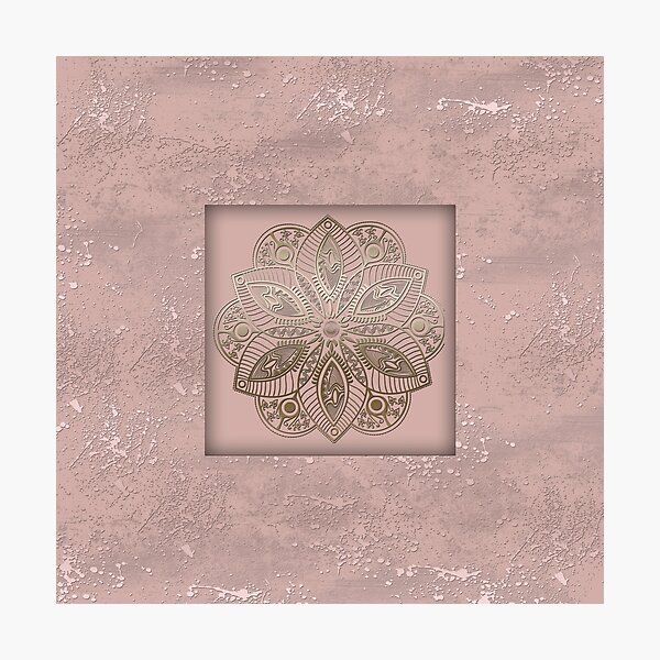 Mandala rosegold 2 Photographic Print