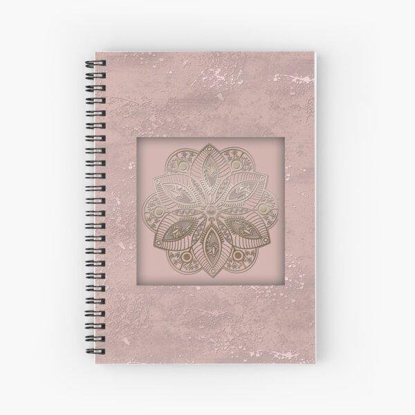 Mandala rosegold 2 Spiral Notebook