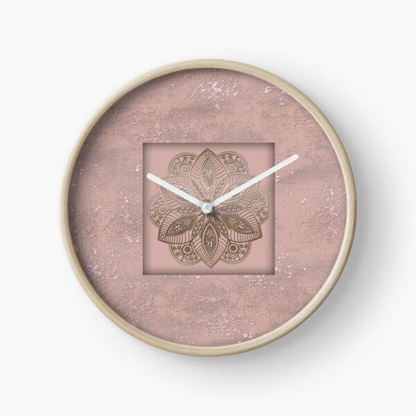 Mandala rosegold 2 Clock