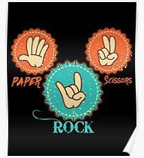 Paper Scissors Rock Cool Design Poster
