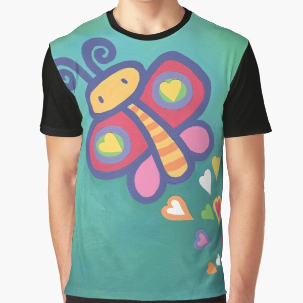 Flying Butterfly Graphic T-Shirt