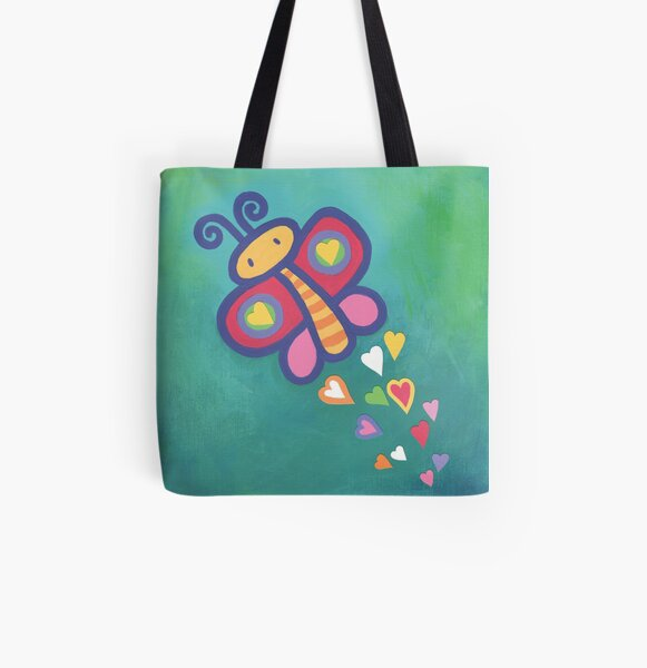 Flying Butterfly All Over Print Tote Bag