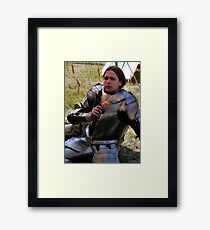 A privileged wit-cracking Knight Framed Print