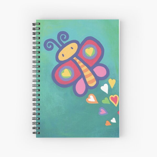 Flying Butterfly Spiral Notebook
