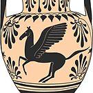 Ancient Greek Pegasus Amphora by Cassidy Capri