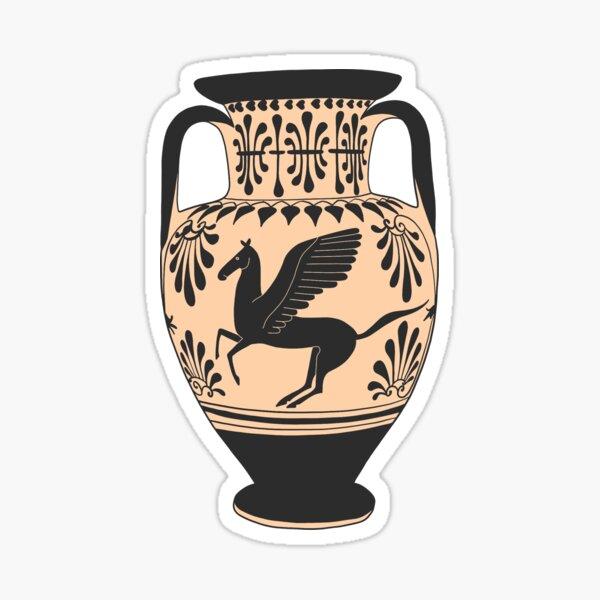 Ancient Greek Pegasus Amphora Sticker