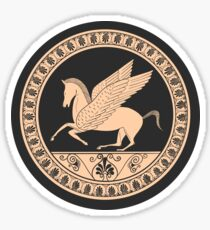 Ancient Greek Pegasus Design Sticker