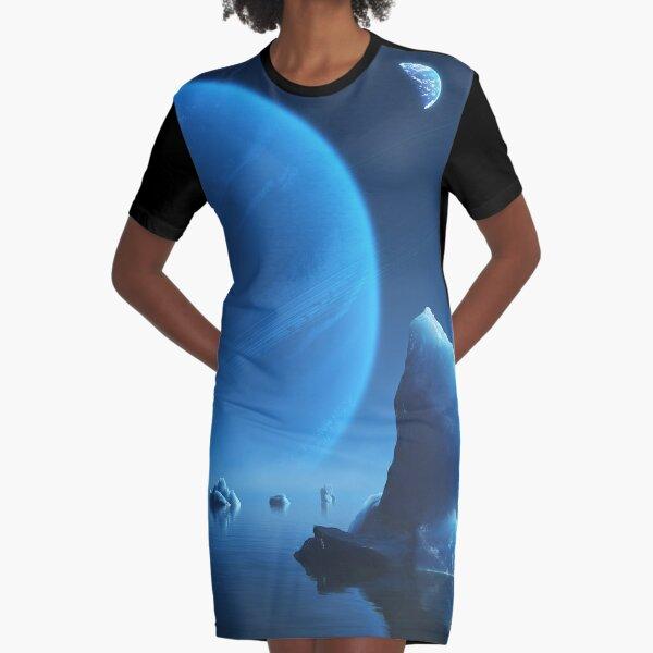 Caerulea Graphic T-Shirt Dress