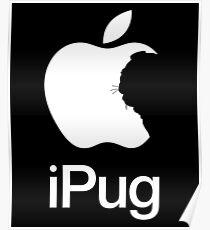 iPug iPhone Pug Dog design Poster