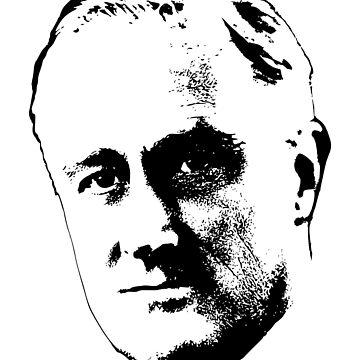 Franklin D. Roosevelt Clean Pop Art by idaspark