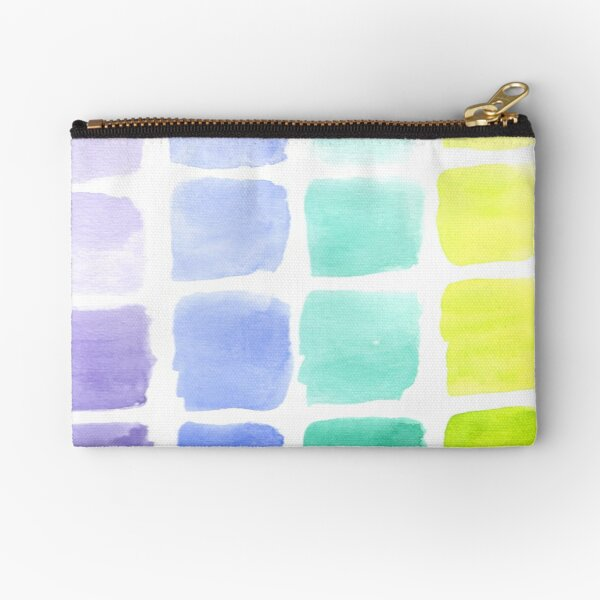 Squared Gradients Zipper Pouch