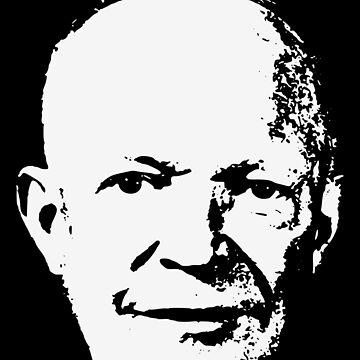 Dwight D. Eisenhower Minimalistic Pop Art by idaspark