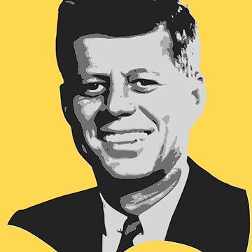 John F Kennedy Grayscale Pop Art T-Shirt by idaspark