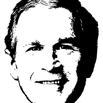 George W. Bush Clean Pop Art T-Shirt by idaspark