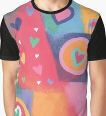 Hearts Patchwork Graphic T-Shirt