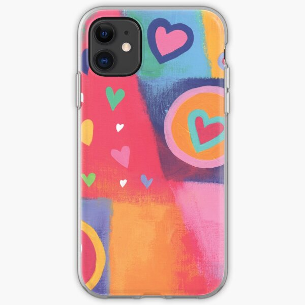 Hearts Patchwork iPhone Soft Case