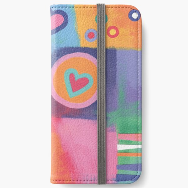 Hearts Patchwork iPhone Wallet