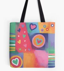 Hearts Patchwork Tote Bag