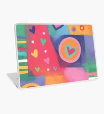 Hearts Patchwork Laptop Skin