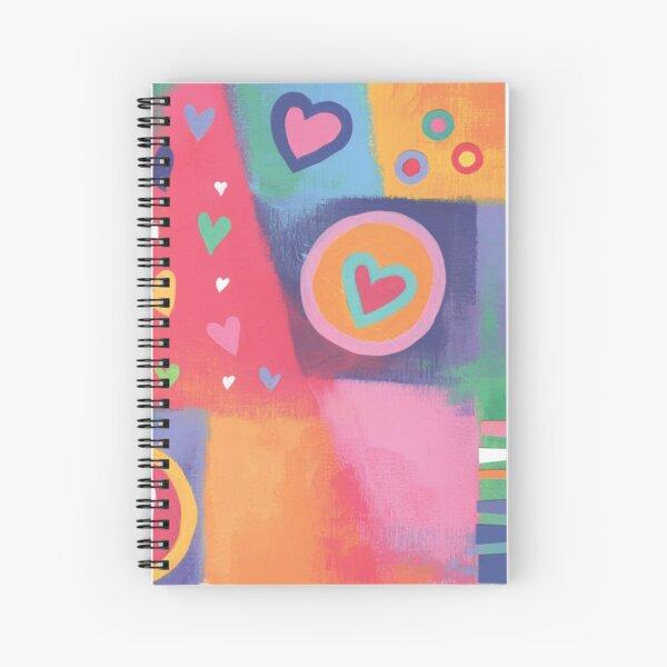 Hearts Patchwork Spiral Notebook