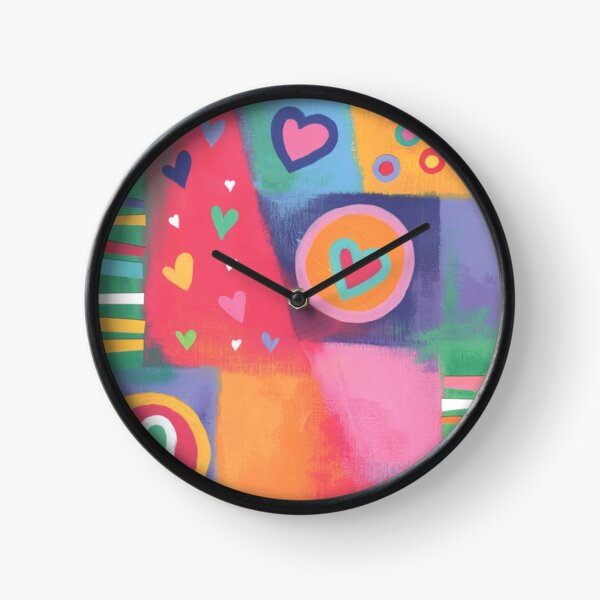 Hearts Patchwork Clock