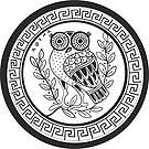 Ancient Athenian Owl Design - Transparent by Cassidy Capri