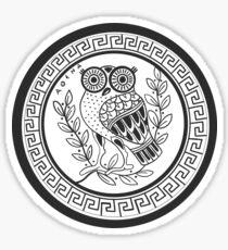 Ancient Athenian Owl Design - Transparent Sticker