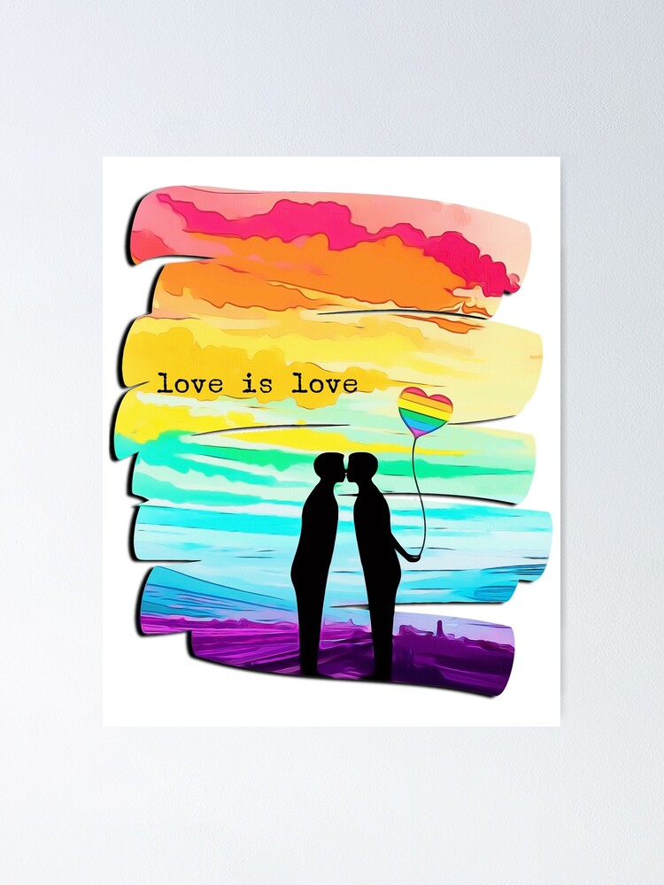 Alternate view of Love is Love (Pride) Poster