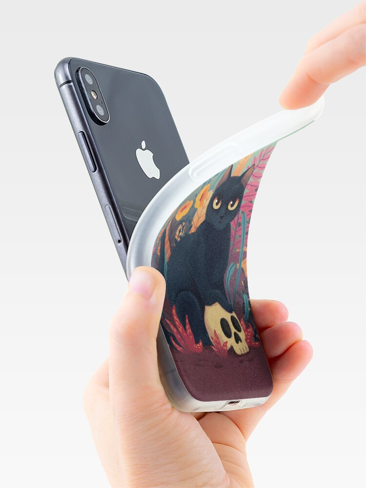 Alternate view of Skull kitty iPhone Case & Cover