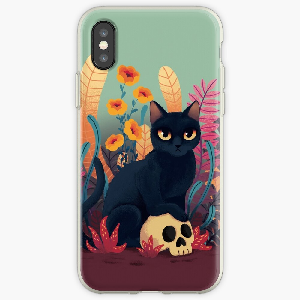 Skull kitty iPhone Case & Cover