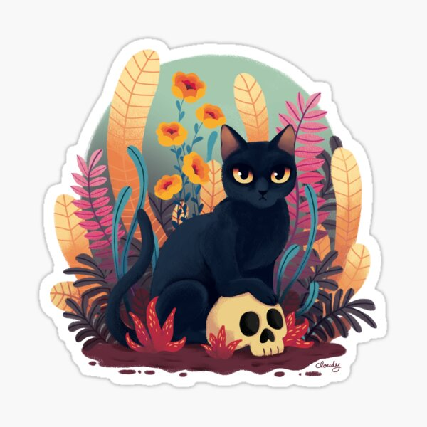 Crâne de chat Sticker