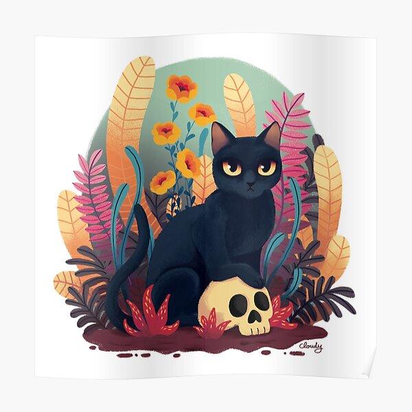 Skull kitty Poster