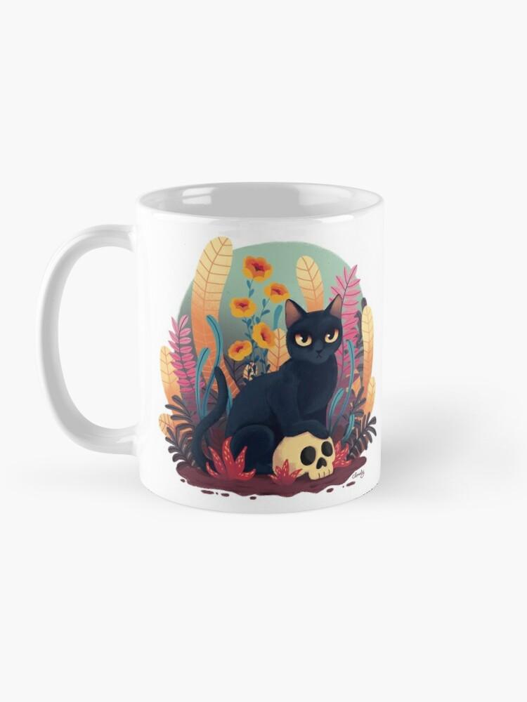 Alternate view of Skull kitty Mug