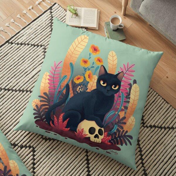 Skull kitty Floor Pillow